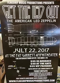 July, 22 2017 - Get the Led Out (Led Zeppelin Tribute)