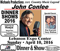 John Conlee with special guests Pat Garrett and Suzy Dalton