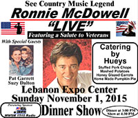 "Ronnie McDowell ""Live"" at the Lebanon Expo Center, November 1, 2015"
